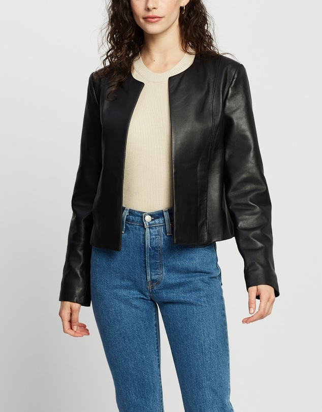 ENA PELLY - Signature Leather Jacket