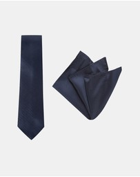 Buckle - Carbon Tie & Pocket Square Set