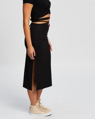 TWIIN Boa Midi Skirt - Skirts (Black)