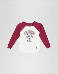 Cotton On Kids - NRL Sea Eagles Raglan LS Top - Kids-Teens