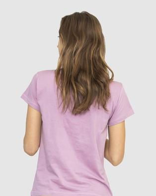 NICO Plant Dyed Organic Cotton Tee - T-Shirts & Singlets (Lilac)
