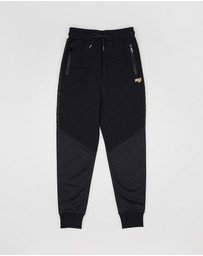 First Ever Kids - Mesh And Logo Trim Trackpants - Teens