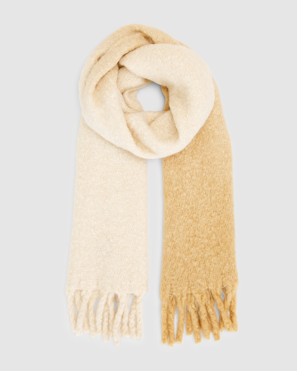 French Connection Ombre Fringed Scarf Scarves & Gloves CAMEL
