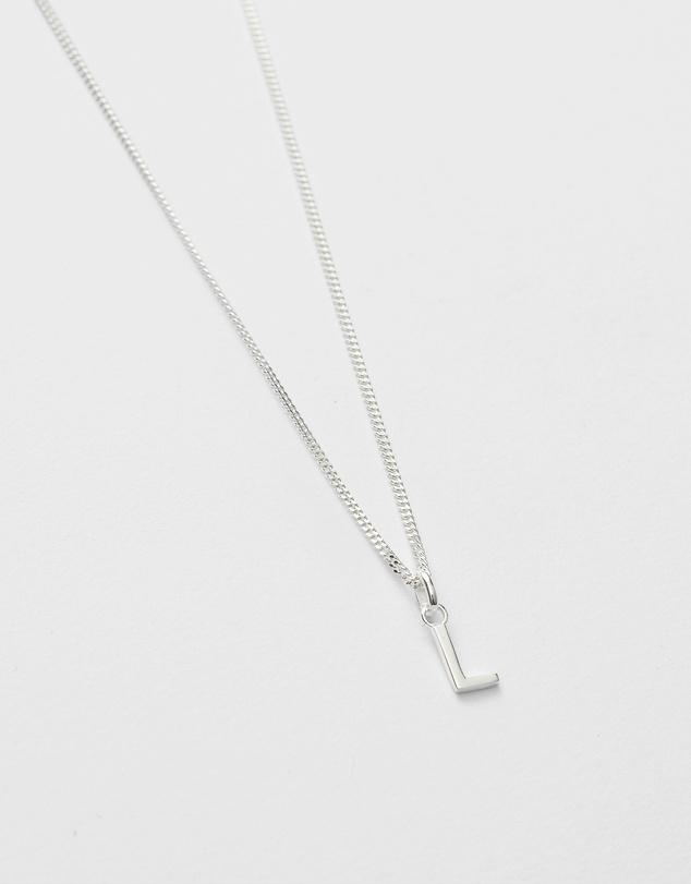 Women L Outline Initial Necklace