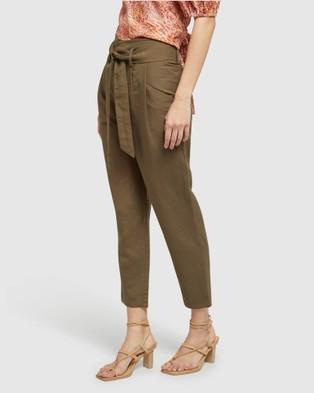 Oxford - Ariel Linen Pants - Pants (Green) Ariel Linen Pants