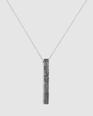 Kuzzoi Necklace Venetian Basic Oxidized in 925 Sterling Silver - Jewellery (Silver)