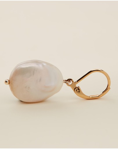 Reliquia Jewellery Mini Keshi Pearl Earrings Gold