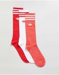 adidas Originals - Solid Crew Socks 3-Pack - Unisex