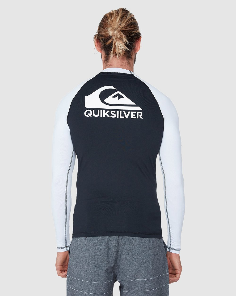QUIKSILVER Big Boys On Tour Long Sleeve Youth Rashguard 50 Sun Protection