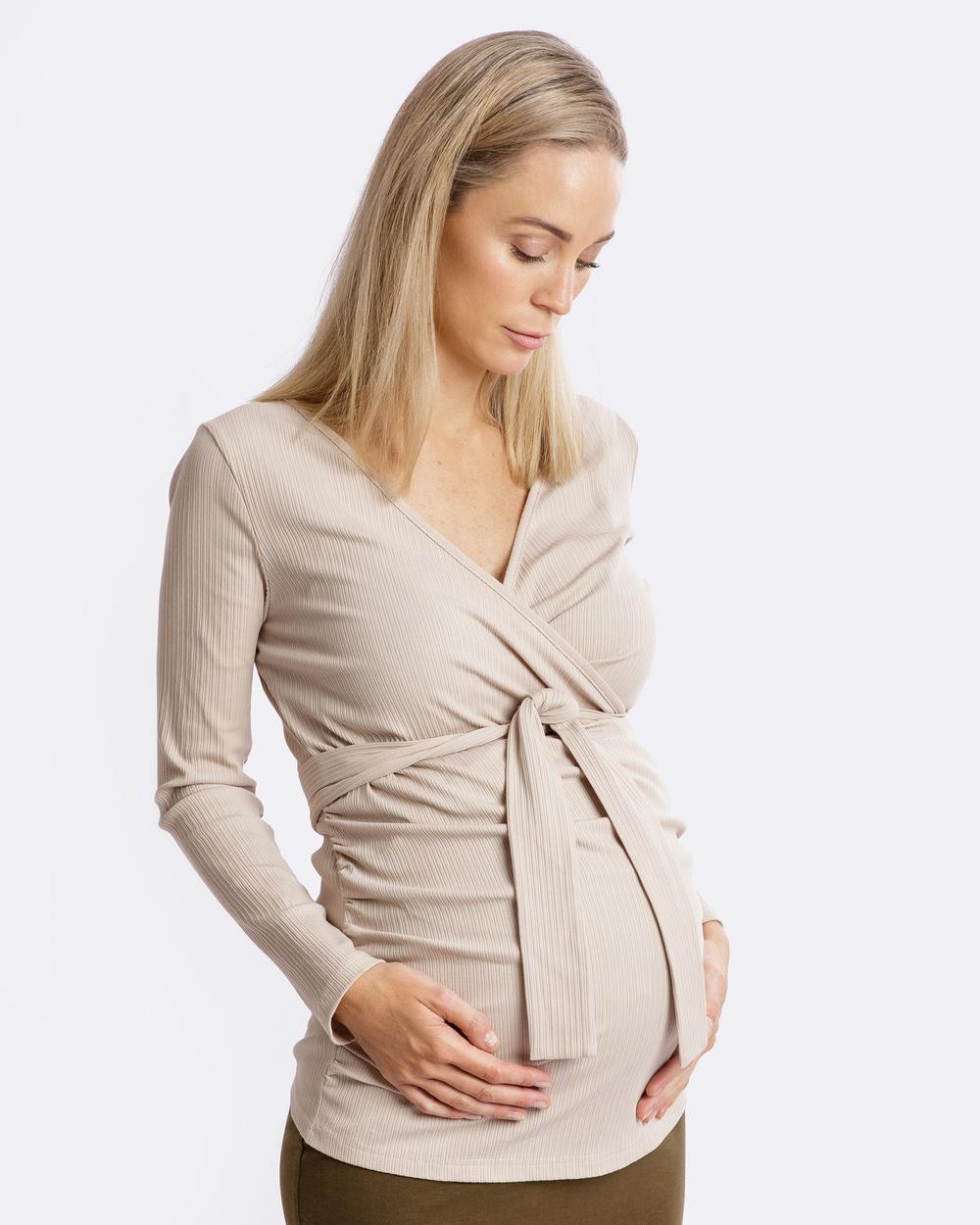 Maive & Bo Cara Maternity Top Tops Cream Cara Maternity Top