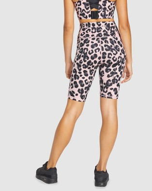 Rockwear Snow Leopard Pocket Bike Shorts - 1/2 Tights (SNOW LEOPARD)