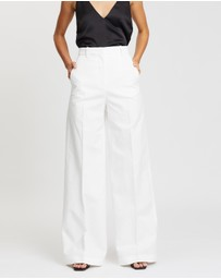 Joseph - Alana Cotton-Linen Canvas Trousers