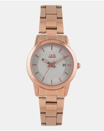 Jag - Belle Silver White Dial IP Rose Gold Bracelet 32mm