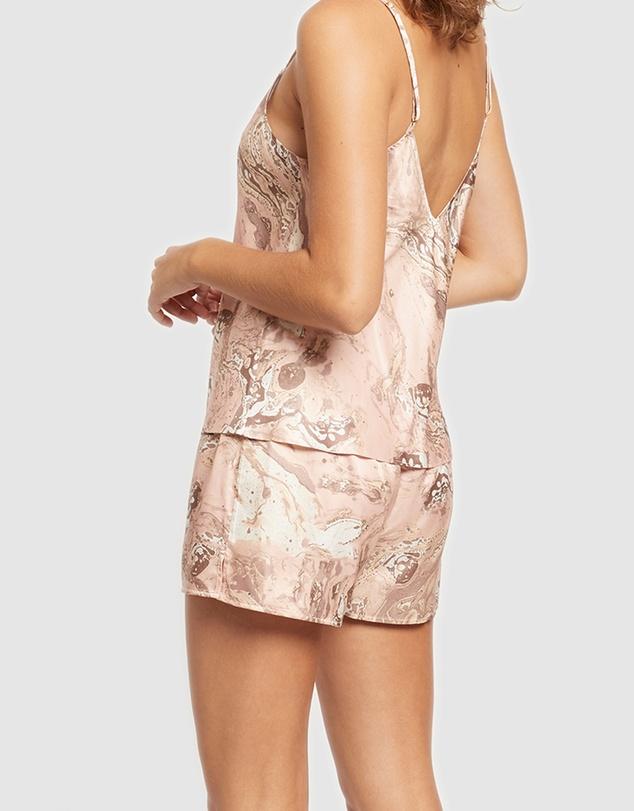 Women Marble Print Shorts