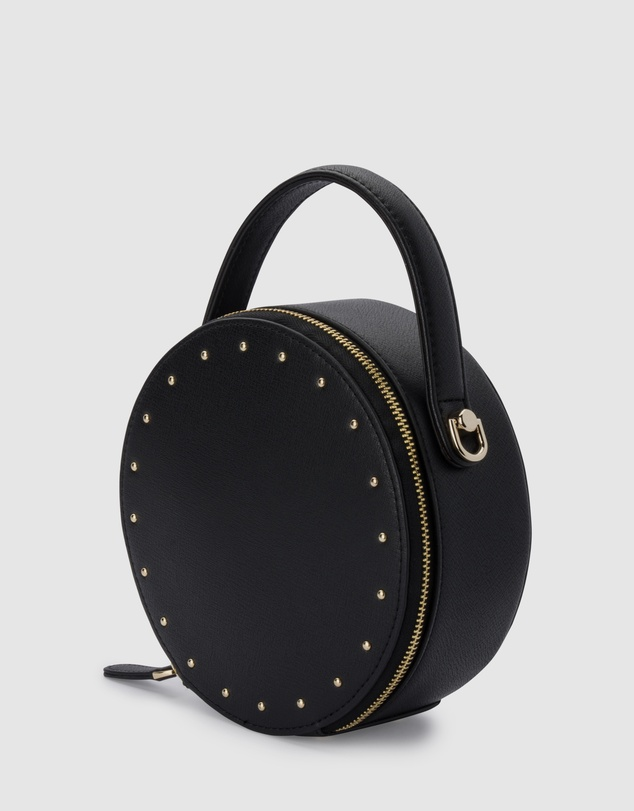 Women Lucette Round Studded Top Handle