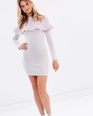 Keepsake the Label – Vital Signs Long Sleeve Knit Dress – Bodycon Dresses Oyster