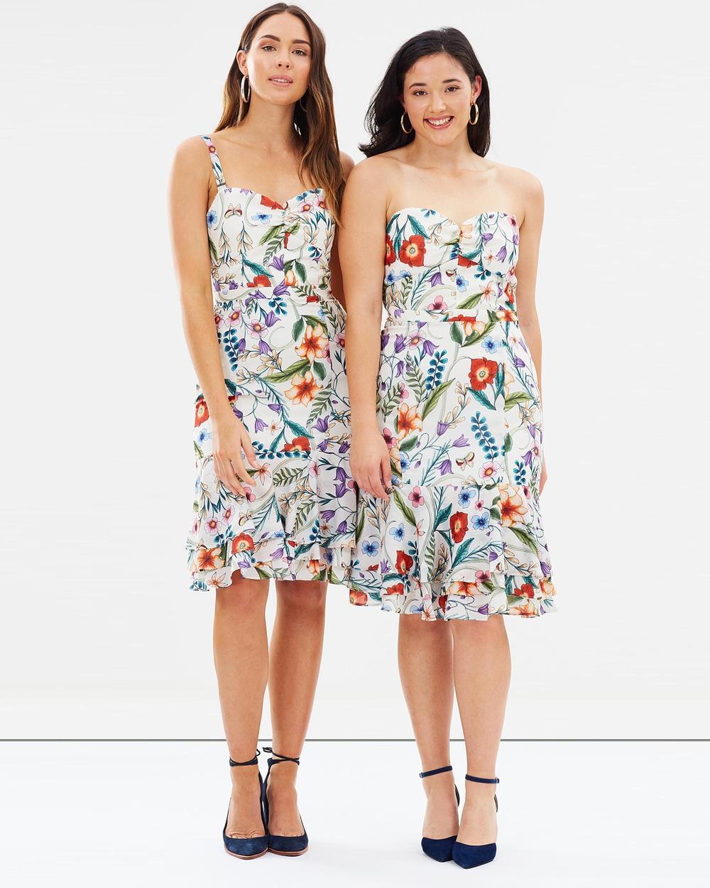 Cooper St Gardenia Vintage Midi Dress Printed Dresses Print Light Gardenia Vintage Midi Dress
