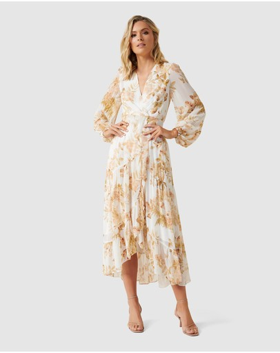 Forever New - Lola Long Sleeve Printed Maxi Dress