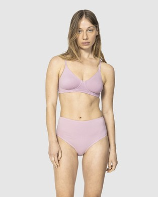 NICO Plant Dyed Organic Cotton Mid Rise Briefs - Briefs (Lilac)