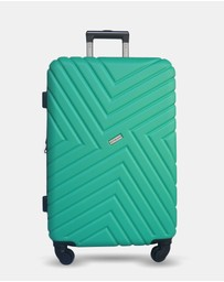 JETT BLACK - Emerald Maze Large Suitcase