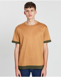 CERRUTI 1881 - Mercerized Cotton Reattached Hem T-Shirt
