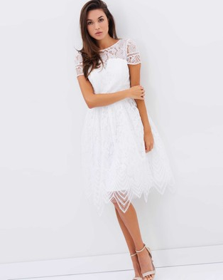 Chi Chi London – Tiffany Dress – Dresses (White)