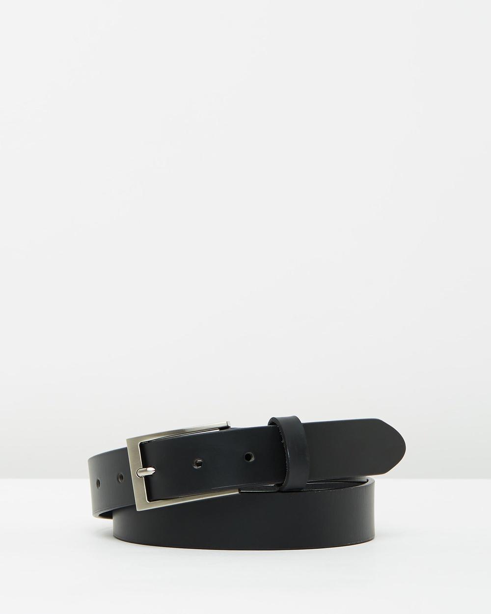 Buckle Carson Leather Belt Belts Black