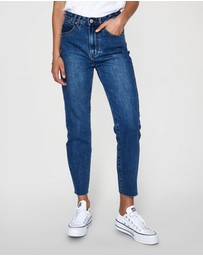 Insight - Tina Mom Jean Deep Indigo Blue