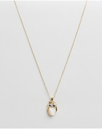 Mestige Kids - Professor Owl Charm Necklace With Swarovski Crystals