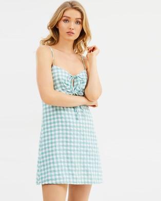 MINKPINK – Gingham Dress – Printed Dresses Sage
