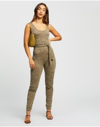 Missguided - Scoop Tie Waist Lounge Jumpsuit