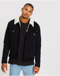 Wrangler - Denim Sherpa Trucker