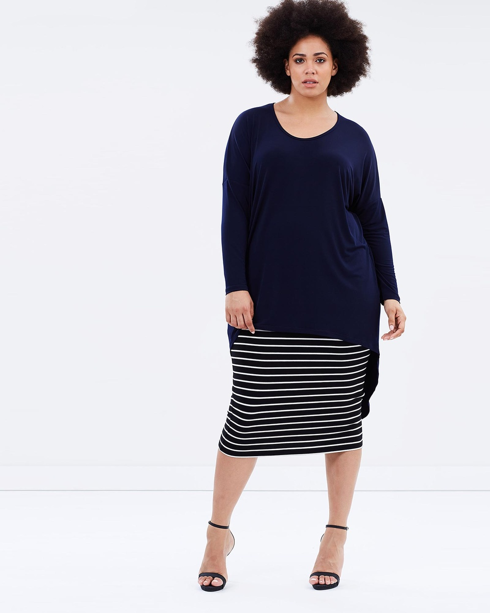 Harlow Diva Oversized Top Tops Navy Diva Oversized Top