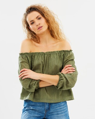All About Eve – Vienna Top Khaki Green