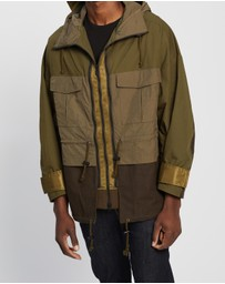 White Mountaineering - Hooded Wide Sleeve Jacket