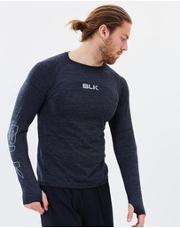 BLK - Men's Motion Knit Long Sleeve Tee