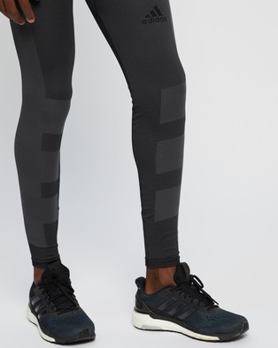 adidas Performance Studio Techfit Seamless Long Tights - all compression (Black & Grey Six)