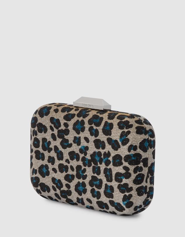 Women Jayne Glitter Leopard Print Clutch