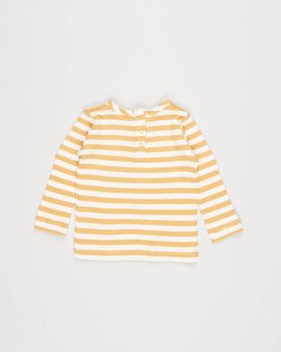 Cotton On Baby - Lenny Long Sleeve Top Babies Tops (Hannah Stripe Vintage Honey & Vanilla)