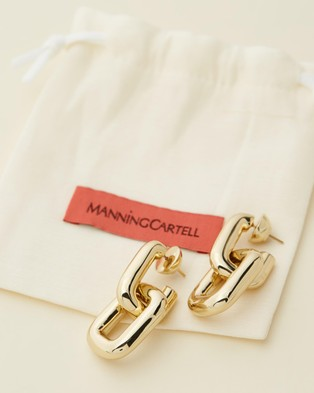 Manning Cartell Gold Tube Set Earrings - Jewellery (Gold Tone)