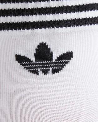 adidas Originals Trefoil Ankle Socks 3 Pack - Underwear & Socks (White & Black)
