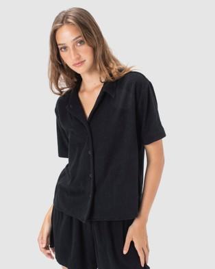 Cools Club Poolside Terry Shirt - Shirts & Polos (Black)