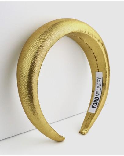 Ford Millinery Monica Headband Gold