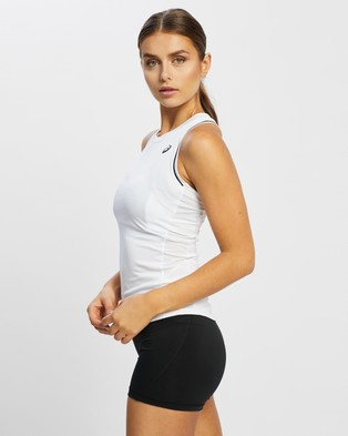 ASICS - Pipping Tank Muscle Tops (Brilliant White)