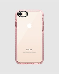 Casetify - Impact Protective Clear Case For iPhone 8/ iPhone 7 – Pink