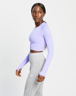 Doyoueven - Hyperflex Cropped Longsleeve - Long Sleeve T-Shirts (Lavender Purple) Hyperflex Cropped Longsleeve