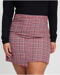Atmos&Here Curvy - Tibby Tweed Mini Skirt
