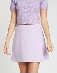 Alice & Olivia - Sherilyn Wrap Buttoned Skirt