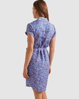 Sportscraft Phoebe Liberty Linen Dress - Printed Dresses (Multi)