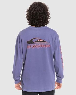 Quiksilver - Mens Originals Thornbush Organic Long Sleeve T Shirt - Long Sleeve T-Shirts (PRISM VIOLET) Mens Originals Thornbush Organic Long Sleeve T-Shirt
